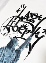 Load image into Gallery viewer, ILL 'Lazy Liberty' (black) Hand-Painted Spray/Stencil on Paper