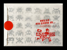Load image into Gallery viewer, SPACE INVADER 'Hello, My Game Is...' Original Postcard Set