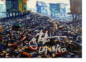 JEFF GILLETTE 'Castle Slum' Giclée Print on Wood