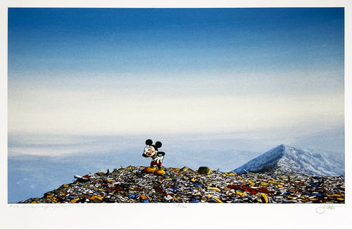 JEFF GILLETTE 'Laughing Mickey Landfill' HPM on Paper