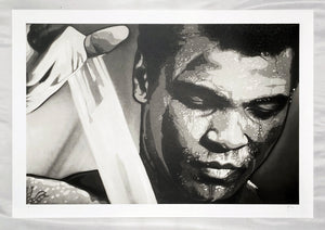 JOE IURATO 'Ali: Almost Showtime' Screen Print - Signari Gallery