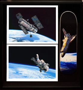 JOSH KEYES 'Frontier', 'Float' + 'Tin Can' Skateboard Deck (Framed) - Signari Gallery