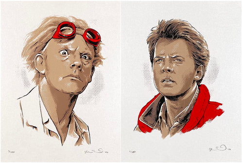 JOSHUA BUDICH 'BTTF: Mini Marty/Doc' 2-Print Set - Signari Gallery