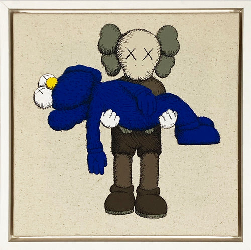 KAWS x Uniqlo 'Gone' Framed Canvas Tote