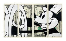 Load image into Gallery viewer, KASH ART 'Steamboat Mickey' (classic) Original HPM on Currency