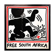 Load image into Gallery viewer, KEITH HARING 'Free South Africa' Original Lithograph Print Framed - Signari Gallery