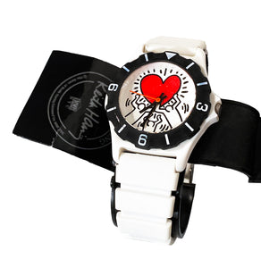 KEITH HARING x  Pop Shop 'Heart' Watch w/Original Case + COA