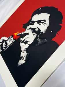 KUNSTRASEN 'Burn Capitalism, Burn' (red) Screen Print - Signari Gallery