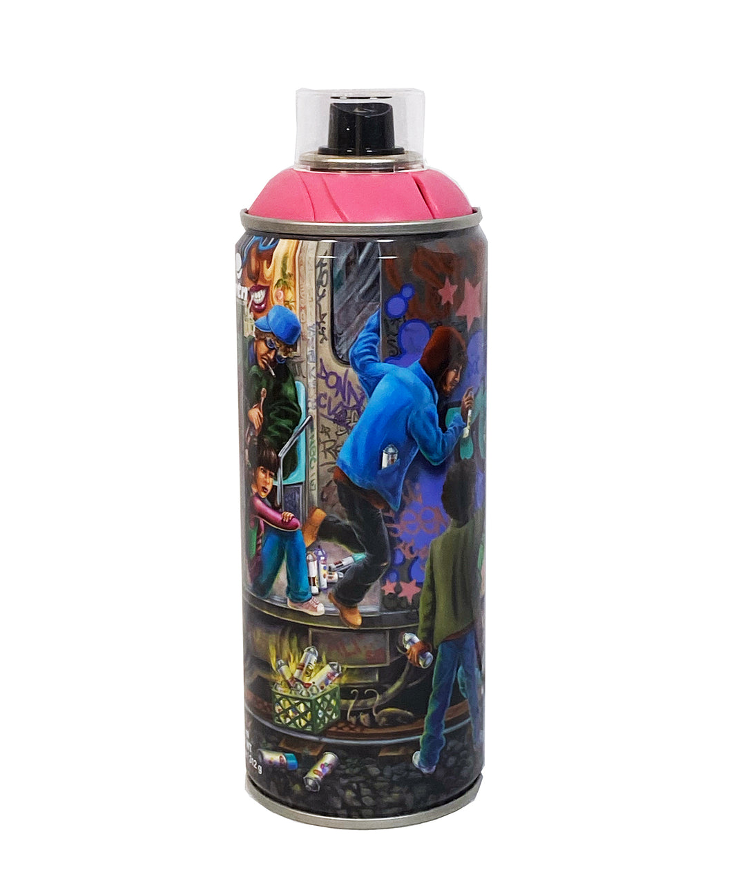 LADY PINK 'Teamwork' Collectible Spray Can