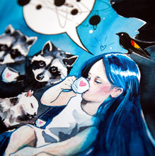 Load image into Gallery viewer, LORA ZOMBIE 'Peaceful Universe' Giclée Print (2)