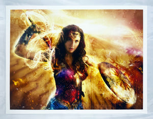 MARK DAVIES 'Thunderbolts of Jove! (Wonder Woman)' Giclee Print