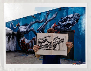 MARTHA COOPER 'Photograph of ROA' Hand-Signed Print