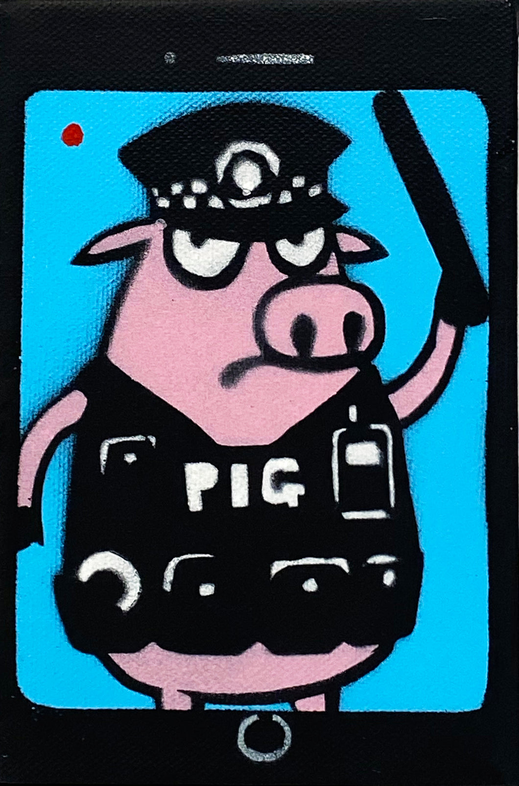 MAU MAU 'Auditing Pig' Mini-Pig HPM on Canvas