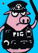Load image into Gallery viewer, MAU MAU 'Auditing Pig' Mini-Pig HPM on Canvas