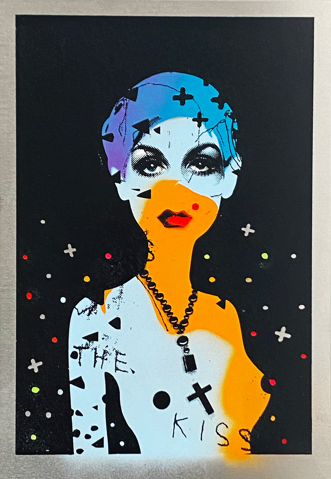 MISS BUGS 'Lost Faith in Pop' (blue) Screen Print on Aluminum