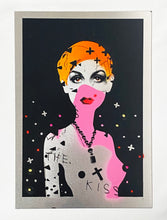 Load image into Gallery viewer, MISS BUGS 'Lost Faith in Pop' (orange) Screen Print on Aluminum