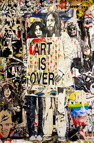 MR. BRAINWASH 'Art is Over' Offset Lithograph (3)