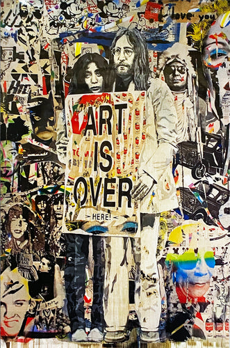 MR. BRAINWASH 'Art is Over' Offset Lithograph (1)