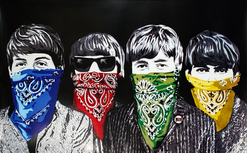 MR. BRAINWASH 'Beatles Banditos' Offset Lithograph