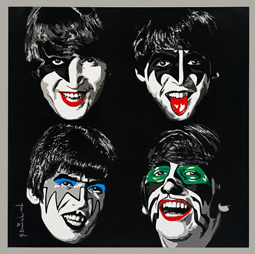 MR. BRAINWASH 'The Beatles as KISS' Offset Lithograph