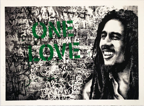 MR. BRAINWASH 'Happy Birthday Bob Marley (One Love)' (green) Screen Print