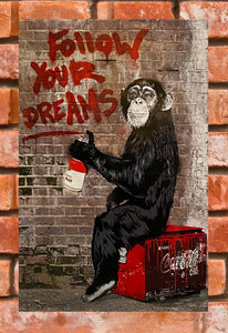 MR. BRAINWASH 'Follow Your Dreams' Offset Lithograph