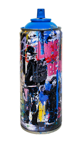 MR. BRAINWASH 'Just Kidding, 2020' (cyan) Spray Can