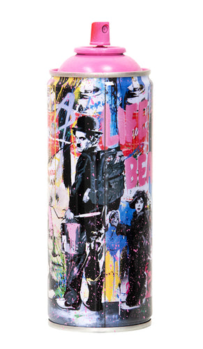 MR. BRAINWASH 'Just Kidding, 2020' (pink) Spray Can