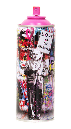 MR. BRAINWASH 'Love is the Answer (Einstein), 2020' (pink) Spray Can