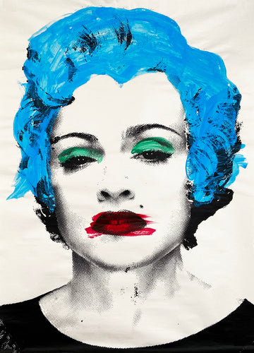 MR. BRAINWASH 'Happy Birthday Madonna' (blue) Original Paster