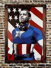Load image into Gallery viewer, MR. BRAINWASH 'Obama Captain America' Offset Lithograph