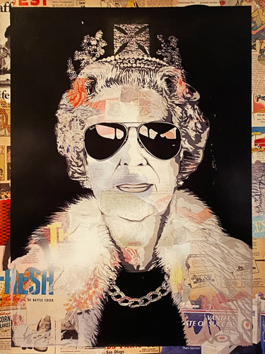 MR. BRAINWASH 'Queen Aviator' Offset Lithograph