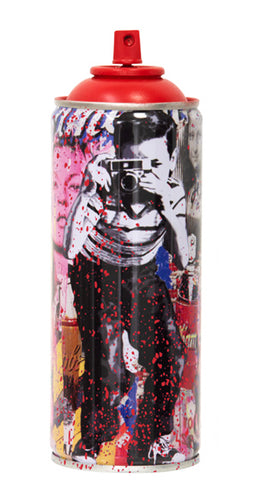 MR. BRAINWASH 'Smile (Full), 2020' (red) Spray Can