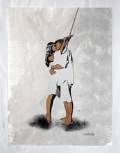 Load image into Gallery viewer, NAFIR 'Last Kiss' Hand-Painted Screen Print