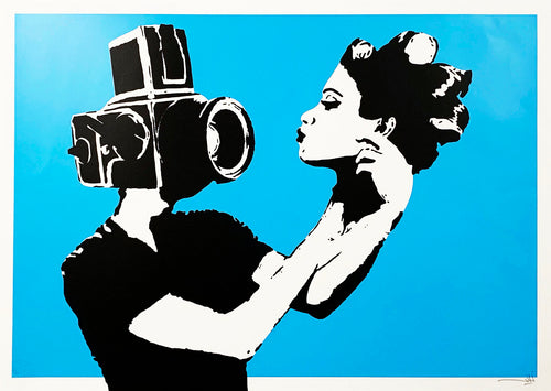 NAFIR 'Selfie' (sky) Screen Print