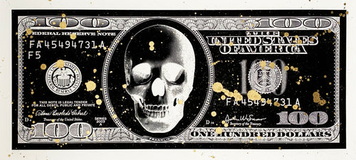 NEST 'Giant Dollar Bill' (black/gold) Hand-Finished Giclée Print