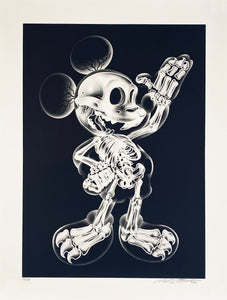 NEST 'X-Ray Mouse' Original Spray/Stencil on Paper