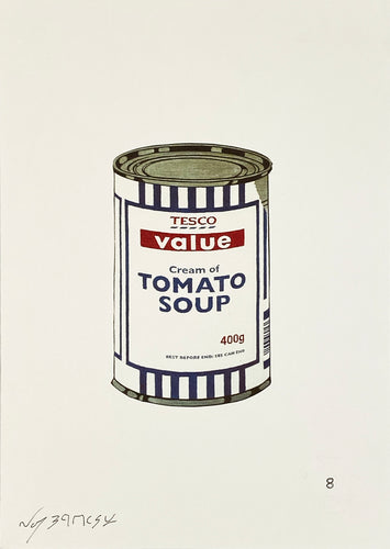 NOT BANKSY 'Banksy Soup Can' Offset Lithograph