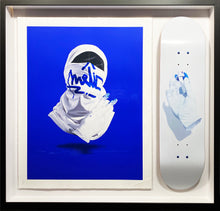 Load image into Gallery viewer, NUNO VIEGAS 'Shirt Mask VII' Print + 'Glove x Fat Cap I' Deck Framed - Signari Gallery