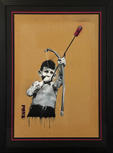 Load image into Gallery viewer, PONK 'Shoot Your Love' Original Spray/Stencil on Cardboard Framed