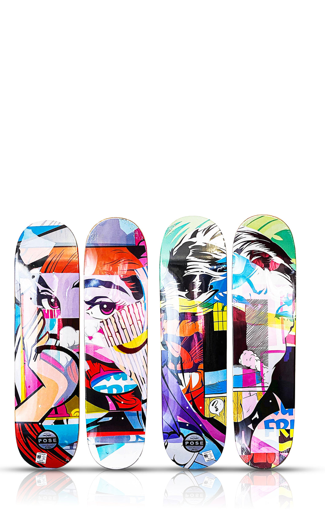POSE 'Mirror/Gent' Skateboard Deck SET
