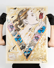 Load image into Gallery viewer, PREFAB 77 'The Butterfly Collector' (Gold AP) Silkscreen Print