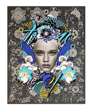 Load image into Gallery viewer, PREFAB 77 'Lady of Rage' (grey) Screen Print - Signari Gallery