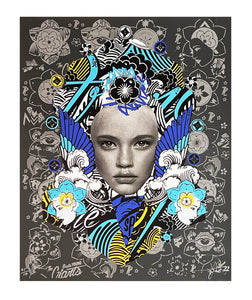 PREFAB 77 'Lady of Rage' (grey) Screen Print - Signari Gallery