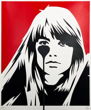 Load image into Gallery viewer, PURE EVIL 'Françoise Hardy - Jacques Dutronc's Nightmare' (red/black) - Signari Gallery