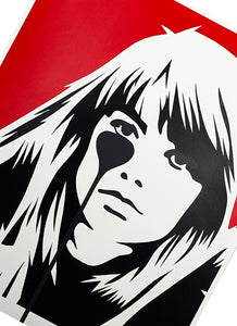 PURE EVIL 'Françoise Hardy - Jacques Dutronc's Nightmare' (red/black) - Signari Gallery