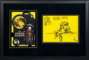 RYCA 'Space Cadet' Action Figure + Original Drawing Framed