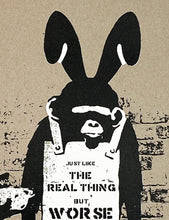 Load image into Gallery viewer, THE REAL NOT BANKSY FRONT 'Like the Real Thing but Worse' Screen Print - Signari Gallery