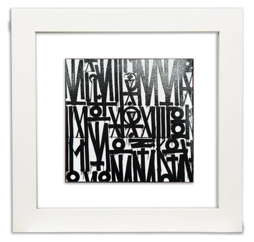 RETNA 'Even the Heart Skips a Beat' Art Card Framed