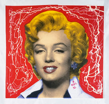 Load image into Gallery viewer, RINGO (Daniel Funes) 'Marilyn Classic' Embellished Screen Print/Canvas